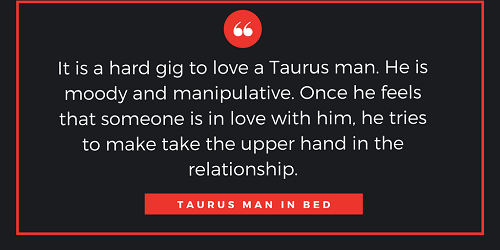 Taurus man love